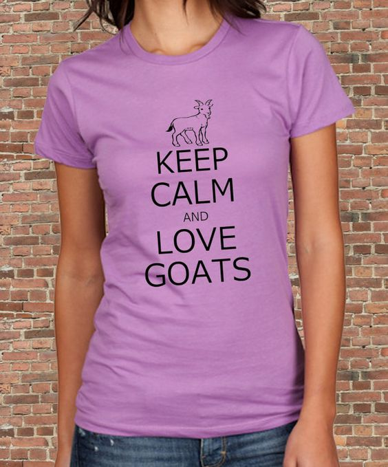 CLEARANCE Keep Calm and Love GOATS Carry on Parody Womens ...