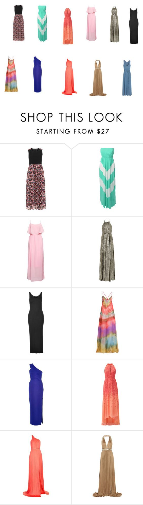 """""""maxi dresses"""" by mmartin-ii ❤ liked on Polyvore featuring Manon Baptiste, LE3NO, Rut&Circle, Topshop, Emilio Pucci, River Island, Badgley Mischka, Maria Lucia Hohan, Roberto Cavalli and J.Crew"""