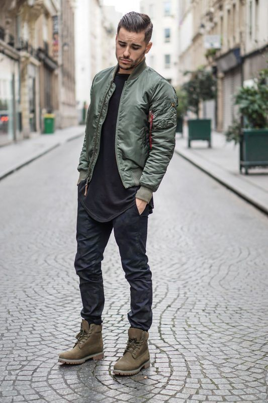 dark brown timberland boots outfit