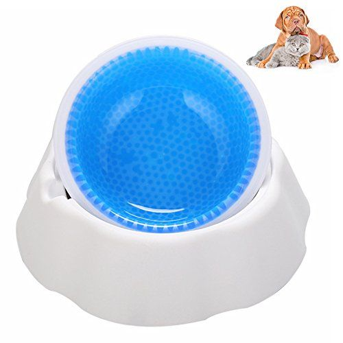 Petacc Dog Cat Bowl Eco Friendly Dog Cool Bowls Non Slip Cat