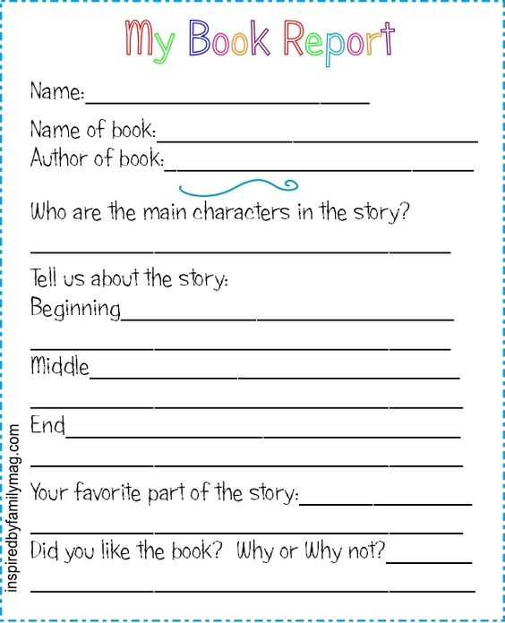 FREE Book Report Template is perfect for Kindergarten, 1st grade - book report template