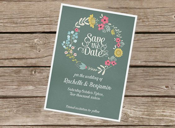 Wedding Save the Date Printable // Clean MODERN by TangoCharlieNZ