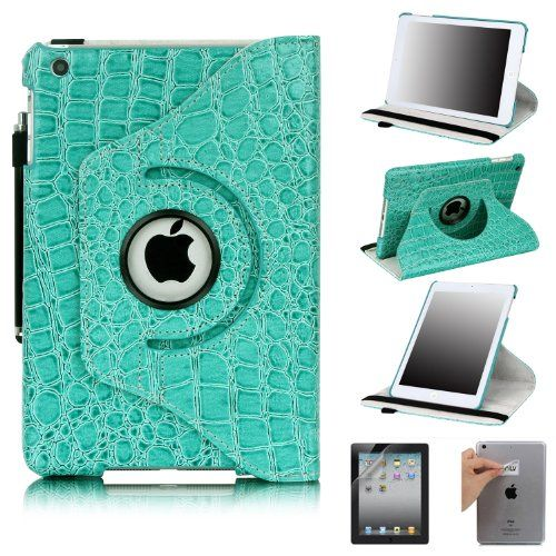 E LV Cover for iPad Mini 2 with Retina Display (7.9 inch Tablet) & iPad Mini (7.9 inch Tablet) 360 Degrees Rotating Stand Leather Smart Case Luxury Crocodile/Tribal Pattern with 1 Screen Protector, 1 Black Stylus and Microfiber Digital Cleaner (With Auto Wake/Sleep Smart Cover Function) (Turquoise, iPad Mini 2 with Retina Display & iPad Mini) E LV http://www.amazon.com/dp/B00DHADD0E/ref=cm_sw_r_pi_dp_v4XPtb1JPCQ61MXV