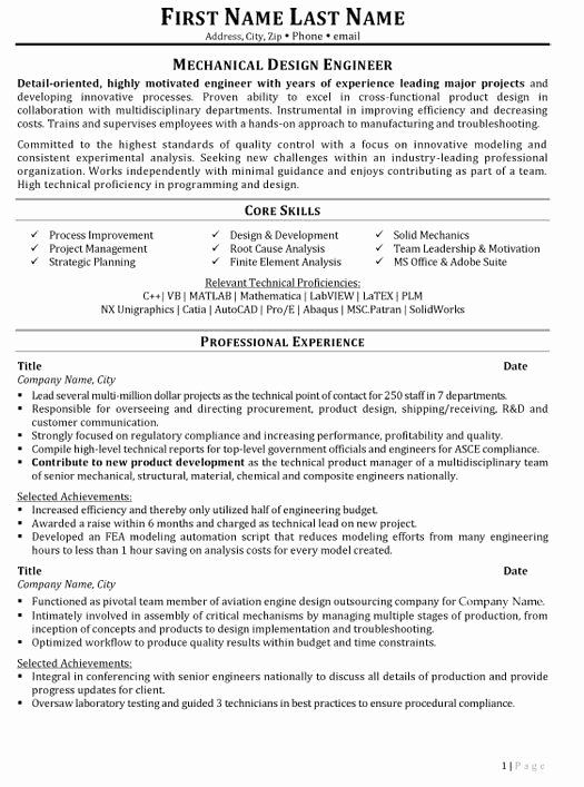 Mechanical Engineering Resume Templates Awesome Mechanical Engineering Resume Templa Mechanical Engineer Resume Engineering Resume Engineering Resume Templates