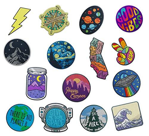 """Out To Live Outdoor Embroidered Iron ON Patch Clothes Round Badge DIY 3/"""""""