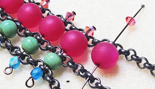 Pom Pom's & Tassels Inspired Necklace #Wire #Jewelry #Tutorials