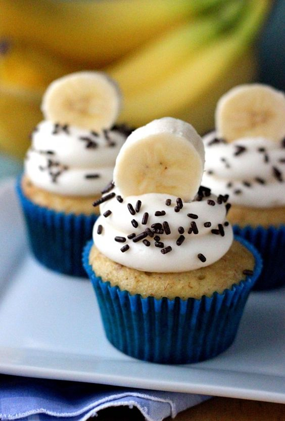 Easy Banana Cupcakes from My Cup of Cake