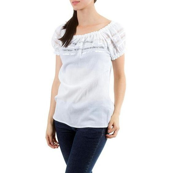 NOVICA Handcrafted Cotton Peasant Style Blouse (61 CAD) ❤ liked on Polyvore featuring tops, blouses, clothing & accessories, white, puff sleeve blouse, white off shoulder top, off the shoulder peasant blouse, white off shoulder blouse and off the shoulder blouse