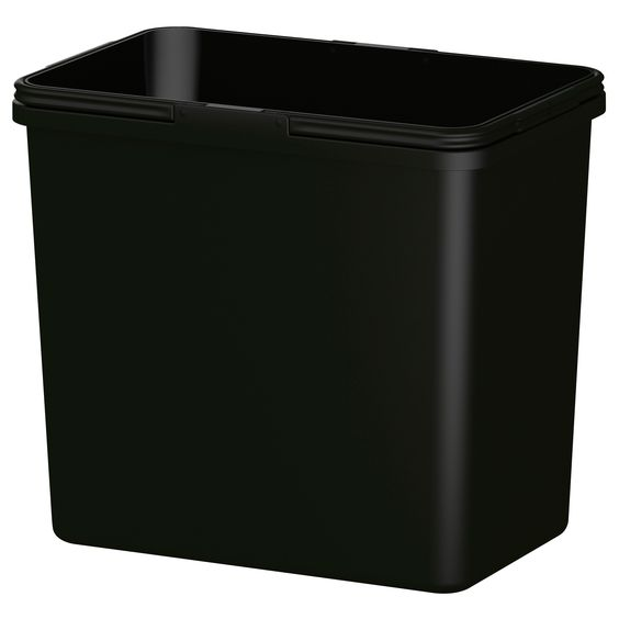 Sektion high cabinet w pull out organizers brown grimsl v medium brown trash bins recycling - Ikea pull out trash bin ...