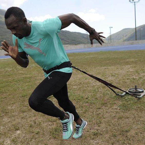 Usain Bolt a travaillé ses démarrages.