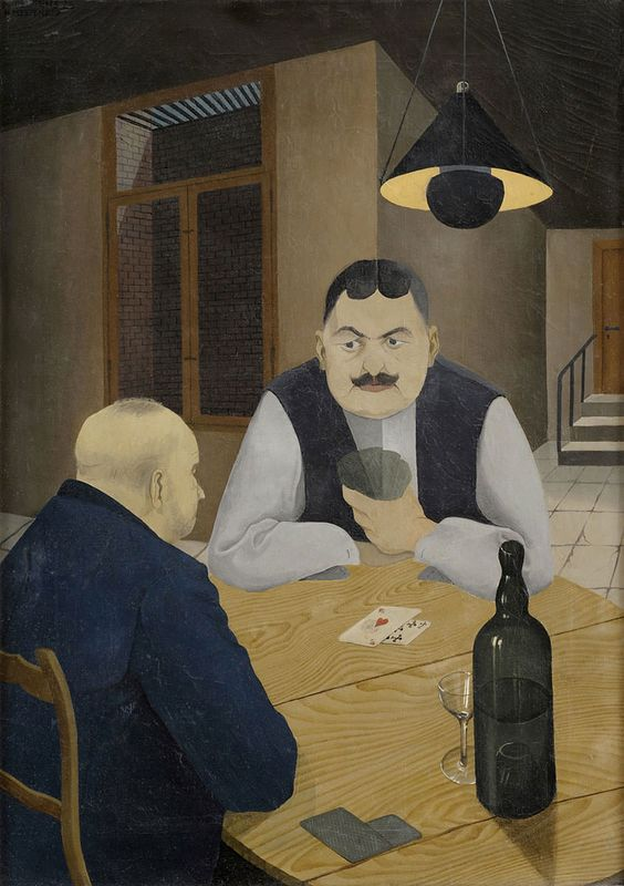 Kartenspieler, 1926 by Hans Mertens (Allemagne, 1906-1944)