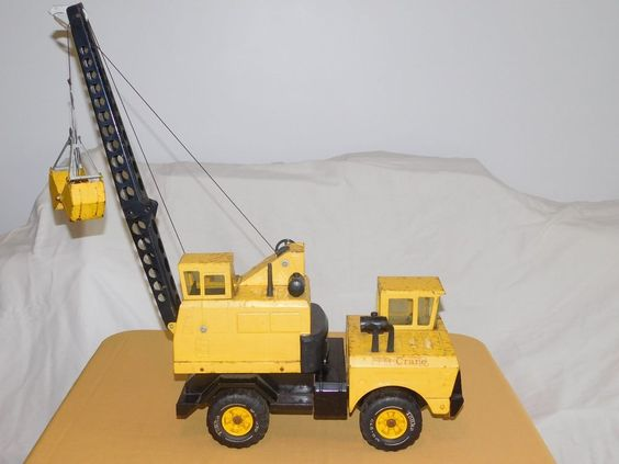 "VINTAGE TOY  17"" LONG ( without crane) TONKA METAL CRANE TRUCK #tonka"