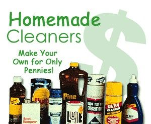 Homemade cleaning products