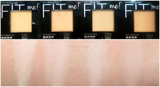 Maybelline Fit Me Pressed Powder Review &Swatches: Classic Ivory, Buff Beige, Natural Beige & Sun Beige