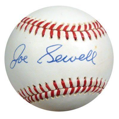 Joe Sewell Autographed AL Baseball PSA/DNA #I70263 . $89.00. This is an Official American League baseball that has been hand signed by Joe Sewell. The autograph has been certified authentic by PSA/DNA and comes with their sticker and matching certificate of authenticity.