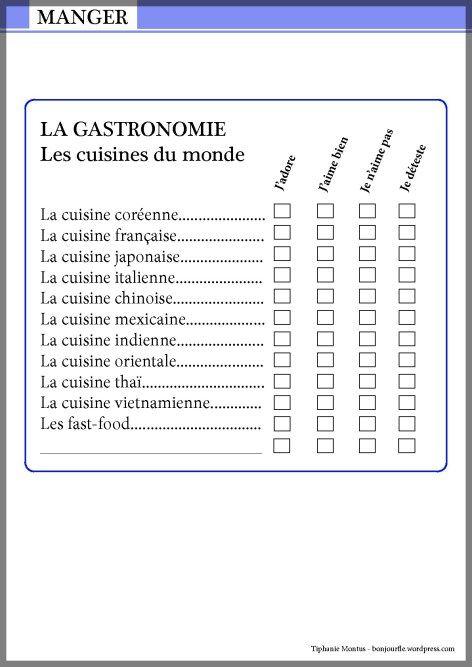 Fiche cuisinesdumonde 001 001 apprendre le fran ais for Apprendre cuisine
