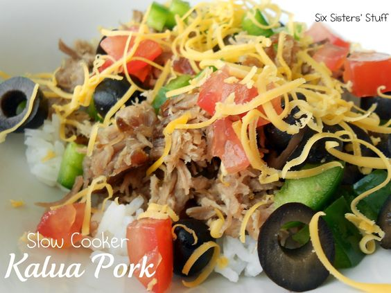 Six Sisters' Stuff: Slow Cooker Kalua Pork Roast