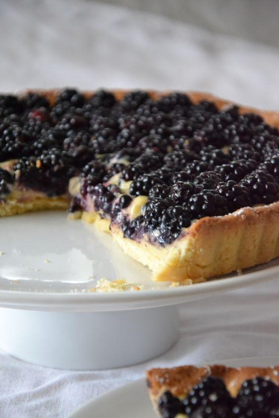 Tarte aux mûres et citron vert🔸Blackberry tart with key lime🔸Brombeere Torte und Limette