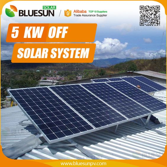 Bluesun Panels 5kw Solar System Information In Hindi With Battery Inverter Sets Solar System Information Solar Roof Solar Panel