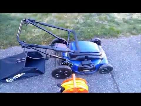 Kobalt Km210 Corded Electric Mower Review Youtube Electric Mower Mower Lawn Mower