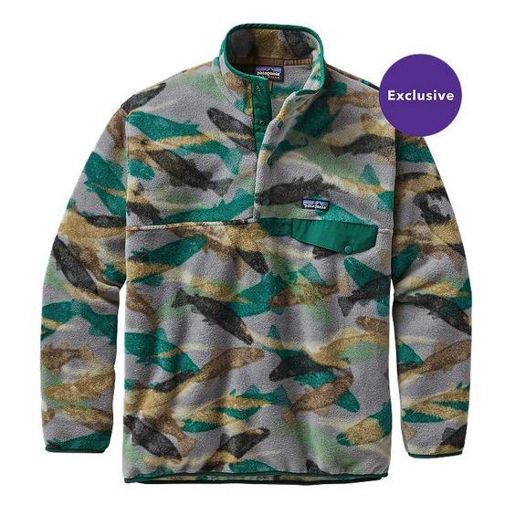 Patagonia M\'s Synchilla\u00AE Snap-T\u00AE Fleece Pullover - Trout Tails: Legend Green TTLG
