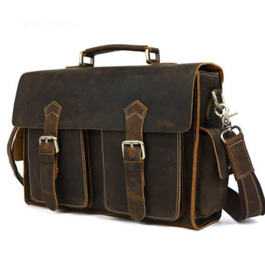 Image of Hand Stitched Leather Messenger Bag, Mens Messenger Bag, Leather Accessories For Men (C28)
