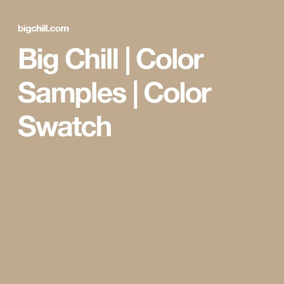 Big Chill | Color Samples | Color Swatch