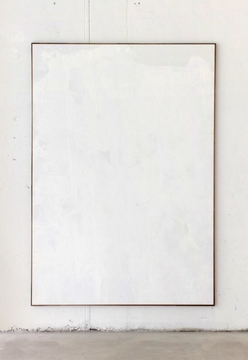 tizianomartini:  tiziano martini, 2014, untitled, white acrylic paint dried behind plastic on cotton on wooden stretcher, artist frame, cm 200x140, courtesy The Artist/Kunsthalle Eurocenter