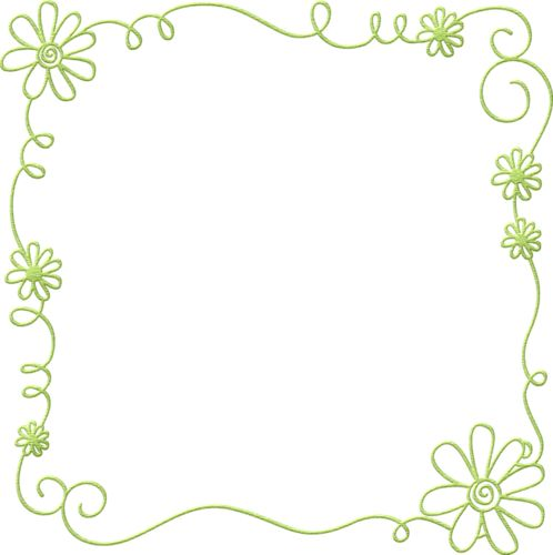 free green floral frame - photo #7