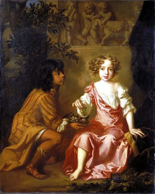 Portrait Of Lady Charlotte Fitzroy With Her Indian Page