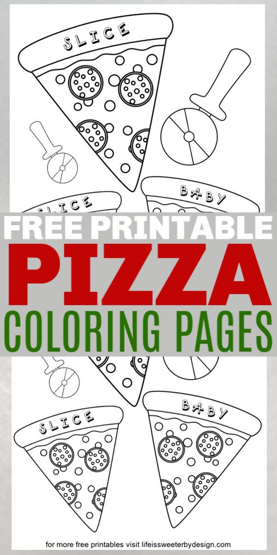 These Free Printable Pizza Coloring Pages Are Perfect For Pizza Parties There Are 2 Different Pizza Color S Pizza Coloring Page Coloring Pages Colouring Pages