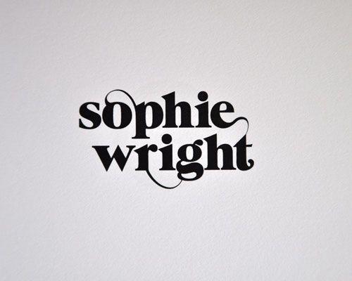 sophie wright logo, MARK BLOOM