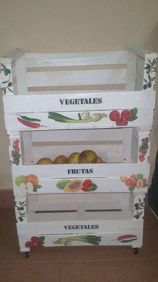 Cajones para frutas y verduras cajones pinterest ideas - Cajones de fruta de madera ...