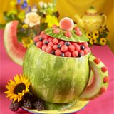 tea pot watermelon sculpture for fancy nancy party: made it and turned out adorable!