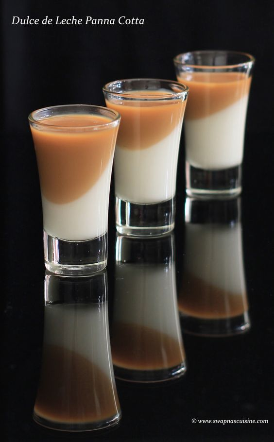 Vanilla Bean & Dulce de Leche Panna Cotta