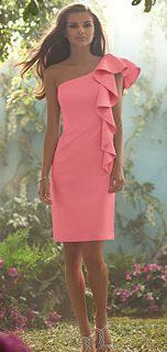 Alfred Angelo Style 508 Bridesmaid Dress in Coral