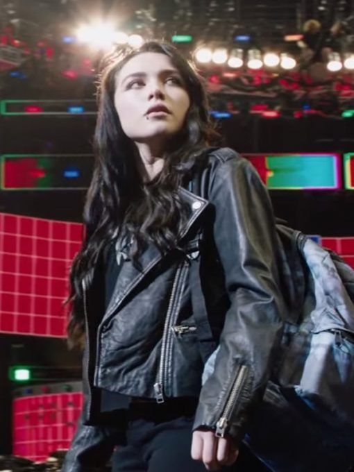 Fighting With My Family Florence Pugh Black Leather Jacket In 2020