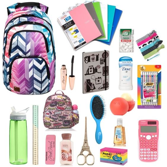 """""""BACK-TO-SCHOOL ESSENTIALS"""" by senaidah on Polyvore ....totally want the…"""