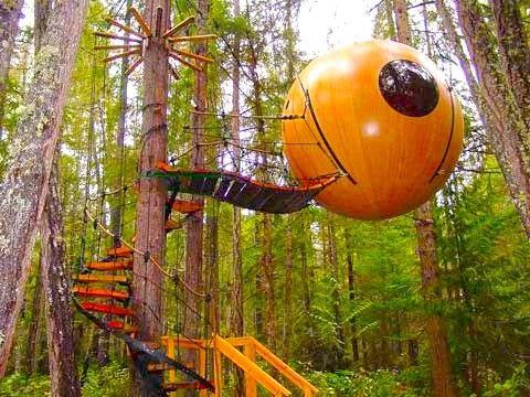 Kết quả hình ảnh cho Free Spirit Spheres, Qualicum Sea, British Columbia, Canada