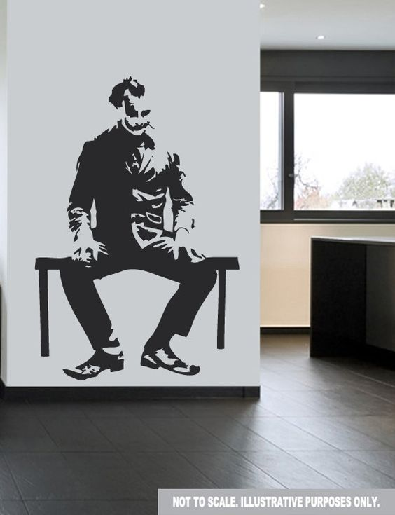 Large joker batman wall decal sticker 44 x 30 by for Batman wall mural decal