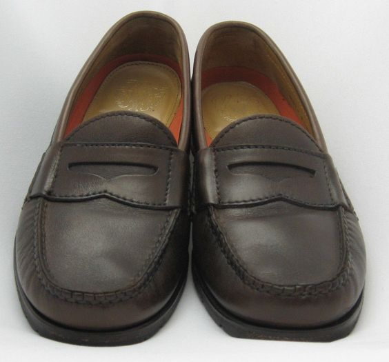 Cole Haan Size 7 M Grand OS Pinch Brown Leather Penny Loafers Mens Vibram Sole #ColeHaan #PennyLoafers