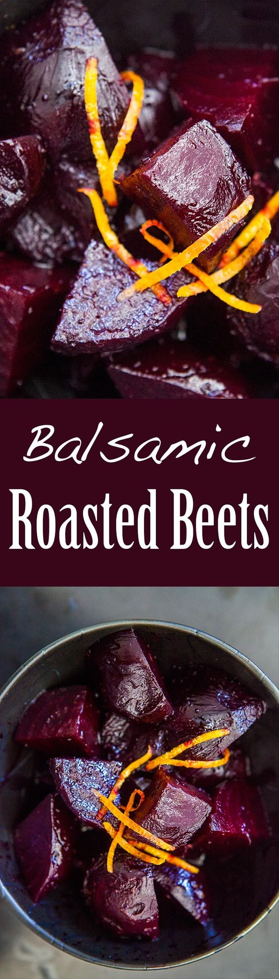 Roasted Beets with Balsamic Glaze ~ Ruby red beets, oven roasted, then ...