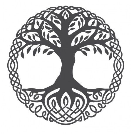 Scandinavian Vikings Symbol Interior Design For Little Square Living Space Scandinavia Vs Nordic Motivated Gr Norse Tattoo Viking Symbols Celtic Tree Of Life