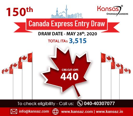 150th Canada Express Entry Draw In 2020 Draw Canada Expressions
