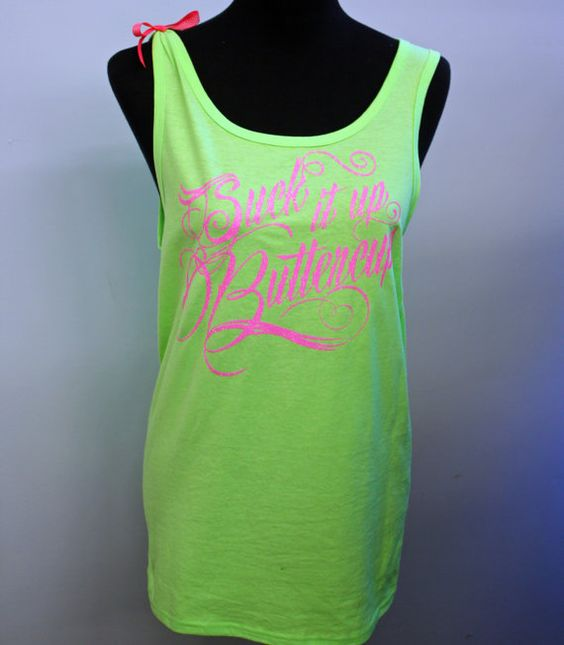 Suck It Up Buttercup Workout Tank Top by 1GreatThing on Etsy