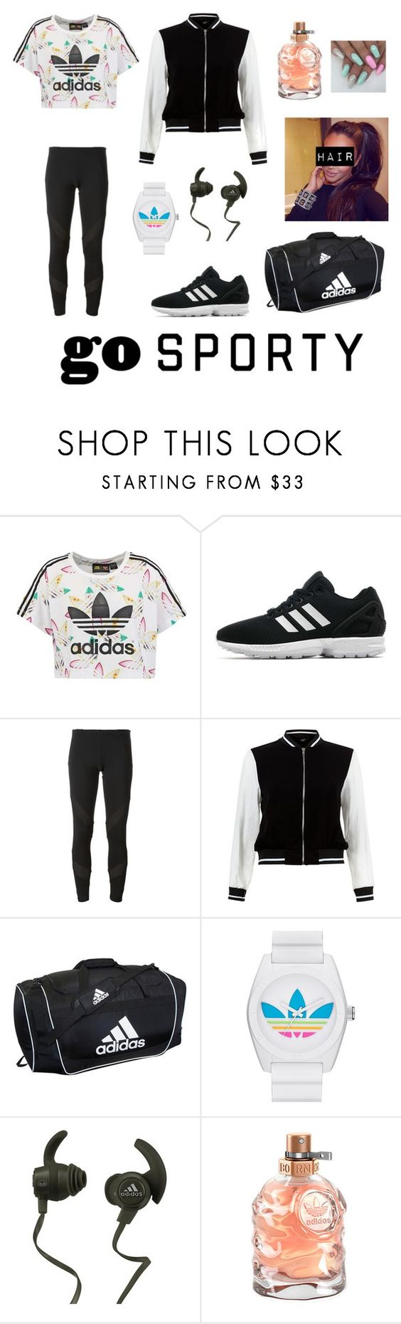 """""""Adidas"""" by tva-lpz ❤ liked on Polyvore featuring adidas Originals, adidas, New Look and Monster"""