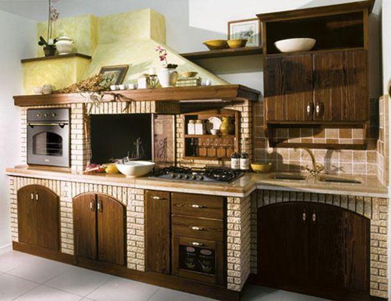 Cucina in muratura rustica n.06 | Cucine | Pinterest | Big project ...