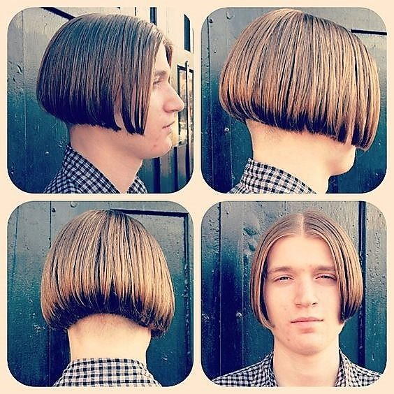 LOVELY bob on a guy. Looks pretty. in 2019