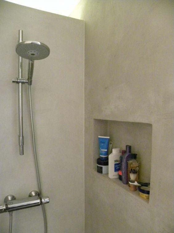 BetonLook Badkamer Beton Cire in natte ruimtes, Betonlook afwerking met…