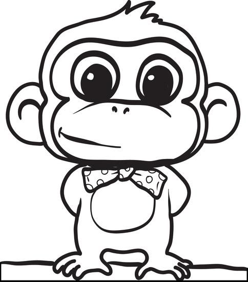 Cartoon Monkey Coloring Page 2 Monkey Coloring Pages Cartoon Coloring Pages Cute Coloring Pages